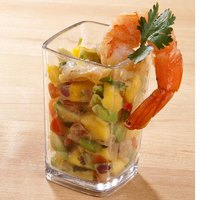 Cambro DG3CW Aliso 3.4 oz. Customizable Square Polycarbonate Mini Dessert Glass - 72/Case