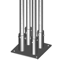 Metro SAQHD25BP-4 Super Erecta 2 7/8 inch x 11 inch x 1/4 inch Four-Post Seismic Bolt Plate Kit for HD Super / MetroMax Q Posts