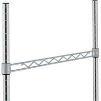Metro H136-DSH Silver Hammertone Hanger Rail 36 inch