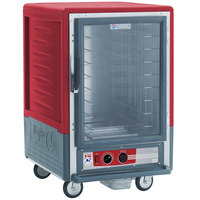 Metro C535-HFC-4 C5 3 Series Heated Holding Cabinet with Clear Door - Red
