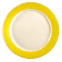 CAC R-6-Y Rainbow Dinner Plate 6 1/2 inch - Yellow - 36 / Case