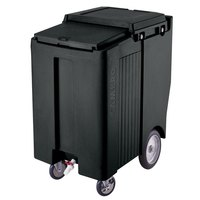 Cambro ICS200TB110 Black Sliding Lid Portable Ice Bin - 200 lb. Capacity Tall Model