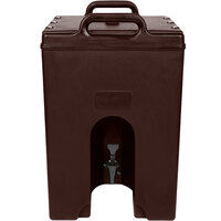 Cambro 1000LCD131 Camtainer 11.75 Gallon Dark Brown Insulated Beverage Dispenser
