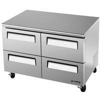 Turbo Air TUR-48SD-D4 Super Deluxe 48 inch Undercounter Refrigerator Four Drawers - 12 Cu. Ft.
