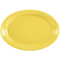 Homer Laughlin 458320 Fiesta Sunflower 13 5/8 inch Platter - 12/Case