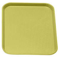 Primrose Yellow Cambro 1014FF108 10 inch x 14 inch Customizable Fast Food Tray 24/Case