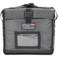 Rubbermaid 9F15 ProServe 19 inch x 16 3/4 inch x 15 inch Gray Insulated Nylon Top Load Half Size Food Pan Carrier (FG9F1500CGRAY)