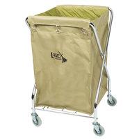 Lavex Lodging 10 Bushel Metal X-Frame Folding Laundry Cart