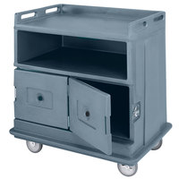 Cambro MDC24401 Slate Blue Beverage Service Cart with 2 Doors - 44 1/2 inch x 30 inch x 44 inch