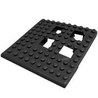 Cactus Mat 2554-CC Dri-Dek 2 inch x 2 inch Black Vinyl Interlocking Drainage Floor Tile Corner Piece - 9/16 inch Thick