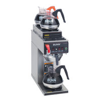 Bunn CWTF35-3 Automatic 12 Cup Coffee Brewer with 2 Upper and 1 Lower Warmer - Stainless Steel Funnel 120/240V (Bunn 12950.0261)
