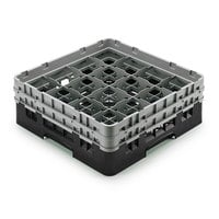 Cambro 16S958110 Camrack 10 1/8 inch High Black 16 Compartment Glass Rack