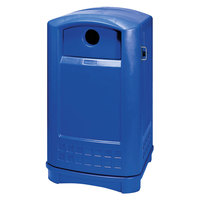 Rubbermaid 3968 Plaza Bottle and Can Recycling Container - Blue (FG396873BLUE)