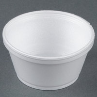 Dart Solo 8SJ20 8 oz. Customizable Extra Squat White Foam Food Bowl - 1000/Case