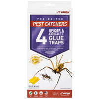 JT Eaton 844 Stick-Em Large Spider and Cricket Glue Trap - 4 / Pack