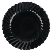 WNA Comet CW6180BK Classicware 6 inch Black Plastic Plate - 18/Pack