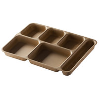 Cambro 10146DCP167 Brown 6 Compartment Serving Tray - 24/Case