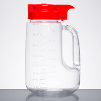 Tablecraft L32R Option 32 oz. Dispenser Jar with Red Top
