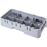 Cambro 8HC414151 Soft Gray 8 Compartment Half Size 4 1/4 inch Camrack Cup Rack