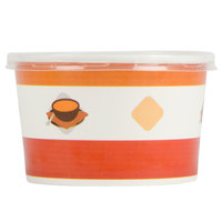 Choice 8 oz. Double-Wall Poly Paper Soup / Hot Food Cup with Plastic Lid - 250 / Case