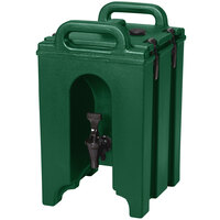 Cambro 100LCD Camtainer 1.5 Gallon Green Insulated Beverage Dispenser