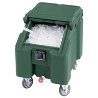 Cambro ICS100L4S192 Granite Green Sliding Lid Portable Ice Bin - 100 lb. Capacity