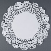 Hoffmaster 500236 8 inch Lace Doily - 1000 / Case