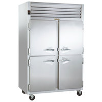 Traulsen G24300 Solid Half Door 2 Section Hot Food Holding Cabinet with Left / Right Hinged Doors