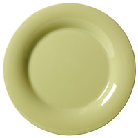 GET WP-9-AV 9 inch Diamond Harvest Avocado Wide Rim Plate - 24/Case