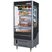Beverage Air VM12-1-B Black VueMax Air Curtain Merchandiser 35 inch - 12 Cu. Ft.