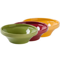 Tuxton DYB-130D DuraTux 13 oz. Assorted Colors China Wide Mouth Soup Bowl - 12/Case