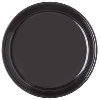 Carlisle 4453203 11 1/2 inch Black Round Melamine Serving Tray - 12/Case