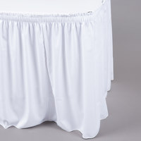 Marko 5024CE29AF010 Trufinish Classic White 13' Twill Skirting with Shirred Pleat