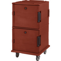 Cambro UPC1600402 Brick Red Camcart Ultra Pan Carrier - Front Load
