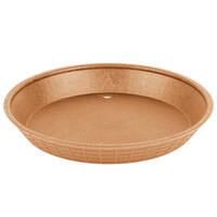 Tablecraft 137510TC 10 1/2 inch Terra Cotta Plastic Diner Platter / Fast Food Basket - 12/Pack