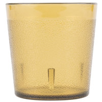 Carlisle 552913 9 oz. Amber Old Fashion Pebbled Tumbler - 72/Case