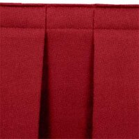 National Public Seating SB32-48 Burgundy Box Stage Skirt for 32 inch Stage - 48 inch Long
