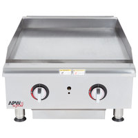 APW Wyott HTG-2472 72 inch Heavy Duty Countertop Griddle with Thermostatic Controls - 198,000 BTU