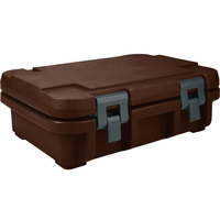 Cambro UPC140131 Dark Brown Camcarrier Ultra Pan Carrier - Top Load for 12 inch x 20 inch Food Pan
