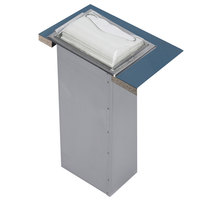 San Jamar H2005CLSS Venue In-Counter Fullfold Napkin Dispenser with Control Face - Clear