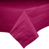 Hoffmaster 220424 54 inch x 54 inch Cellutex Burgundy Tissue / Poly Paper Table Cover - 50/Case