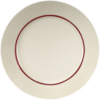 Homer Laughlin Gothic Red Jade 9 7/8 inch Off White China Plate - 24/Case