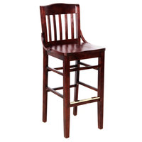 Lancaster Table & Seating Mahogany School House Bar Height Chair