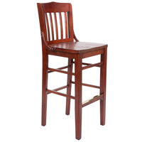 Lancaster Table &amp&#x3b; Seating Mahogany School House Bar Height Chair