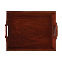 GET RST-1814-M 18 inch x 14 inch Hardwood Room Service Tray - Mahogany