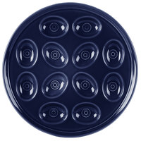 Homer Laughlin 724105 Fiesta Cobalt Blue 11 1/4 inch Egg Tray - 4/Case