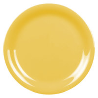 6 1/2 inch Yellow Narrow Rim Melamine Plate - 12/Pack