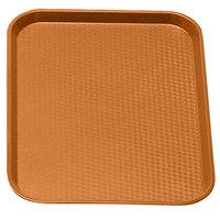 Orange Cambro 1014FF166 10 inch x 14 inch Customizable Fast Food Tray 24/Case