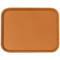 Cambro 1014FF166 10 inch x 14 inch Orange Customizable Fast Food Tray - 24/Case