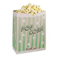 Bagcraft Papercon 300613 7 1/2 inch x 3 1/2 inch x 9 inch 130 oz. EcoCraft Popcorn Bag - 500 / Case